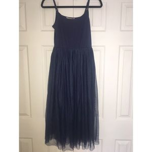 Navy blue tulle dress